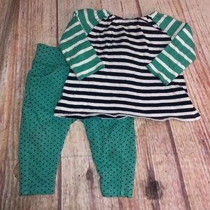 Tucker and Tate turquoise outfit infant size 6M